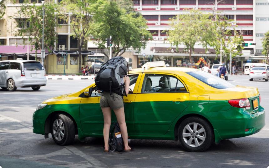 タクシー運転手と交渉