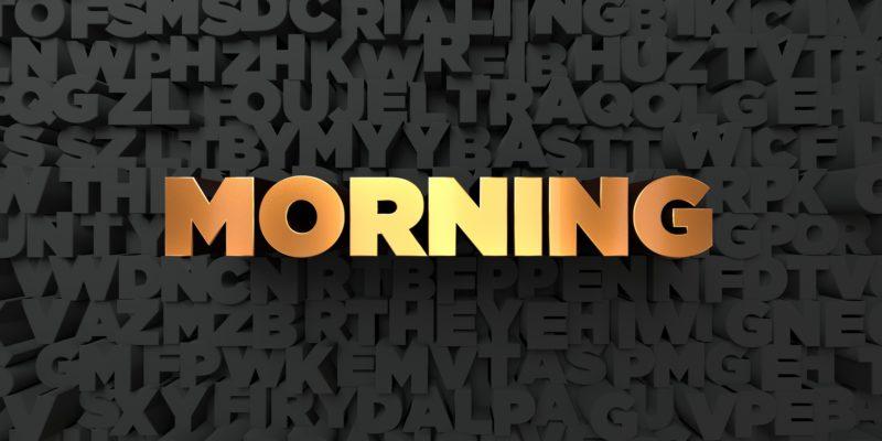 英語 morning