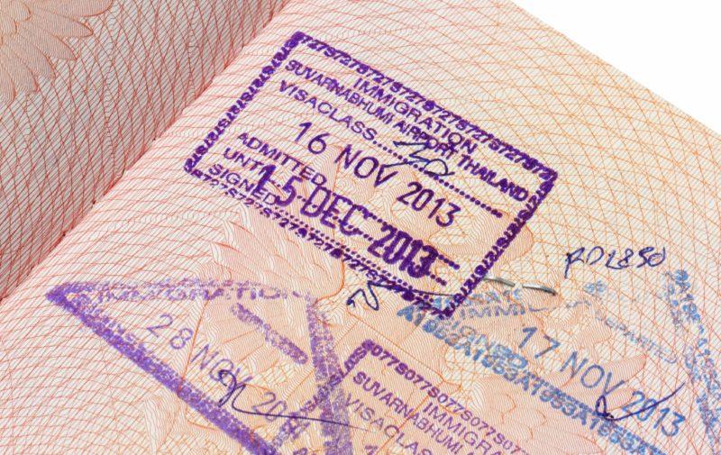 タイ 入国スタンプ