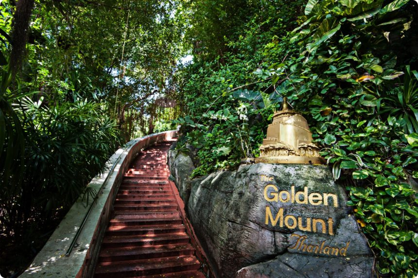 ワットサケット 黄金の丘 階段