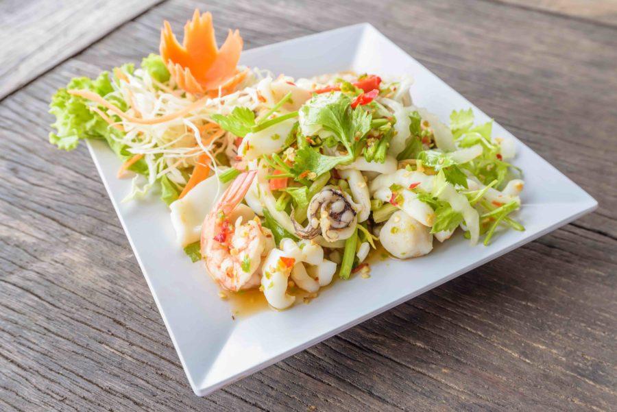 タイ料理:プラークン(พล่ากุ้ง)