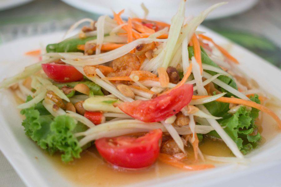 タイ料理:ソムタムタイ(ส้มตำไทย)