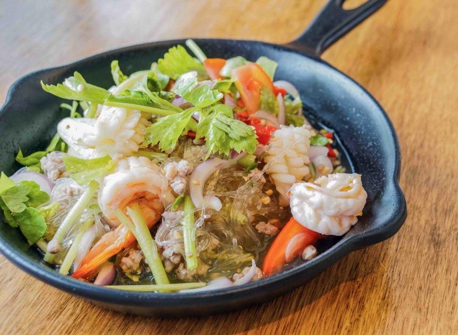 タイ料理:ヤムウンセン(ยำวุ้นเส้น)
