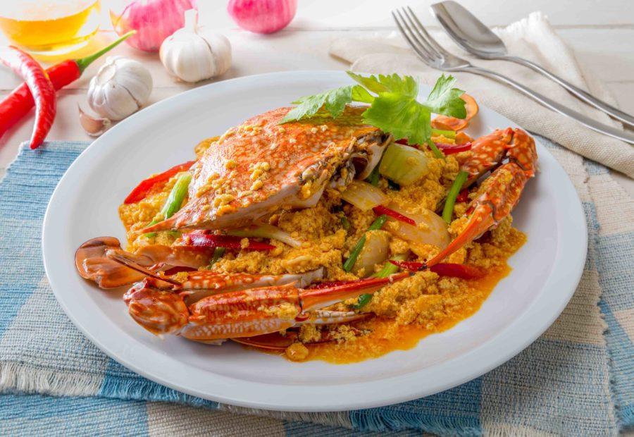 タイ料理:プーパッポンカリー(ปูผัดผงกะหรี่)