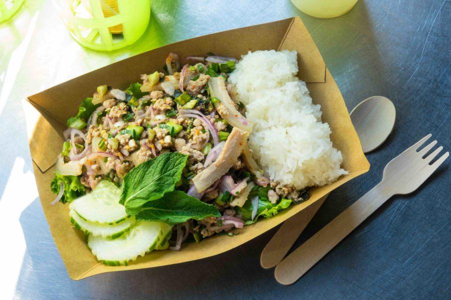 タイ料理:ラープムー(ลาบหมู)