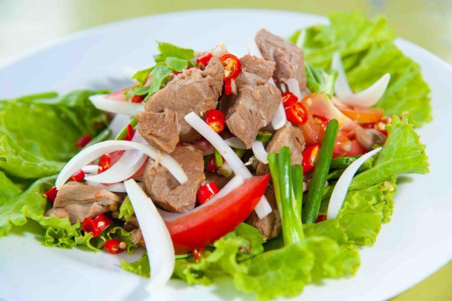 タイ料理:ヤムヌア(ยำเนื้อ)