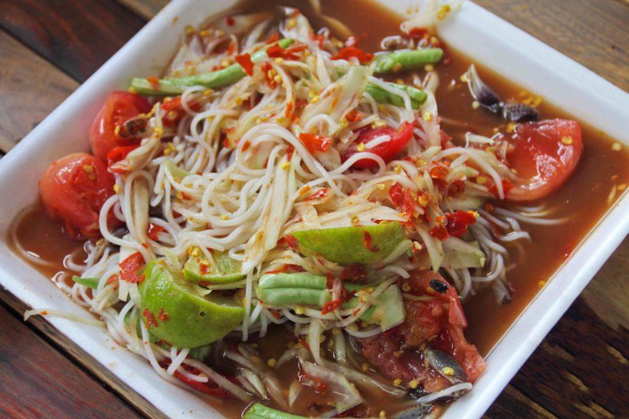 タイ料理:ソムタムスワ(ส้มตำซั่ว)