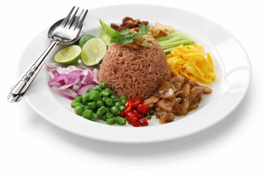 タイ料理:カオクルックカピ(ข้าวคลุกกะปิ)