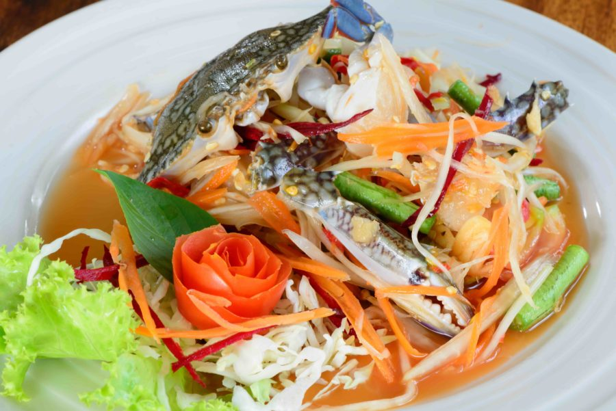 タイ料理:ソムタムプー(ส้มตำปู)