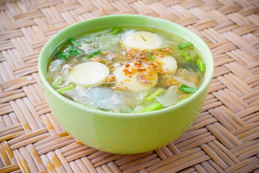タイ料理:ゲーンチュートタオフー(แกงจืดเต้าหู้หมูสับ)