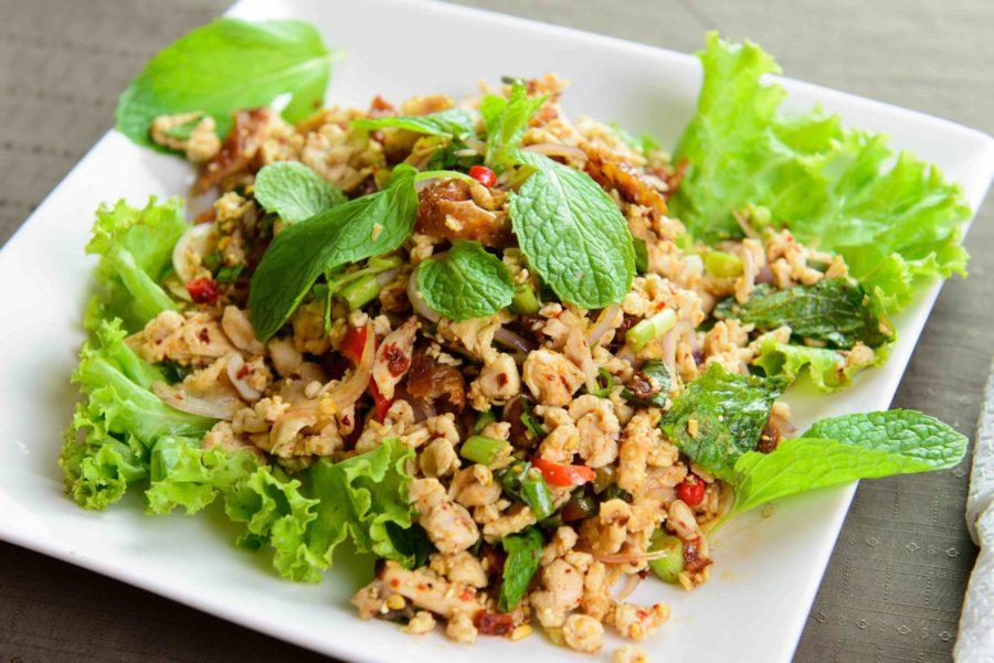 タイ料理:ラープガイ(ลาบไก่)