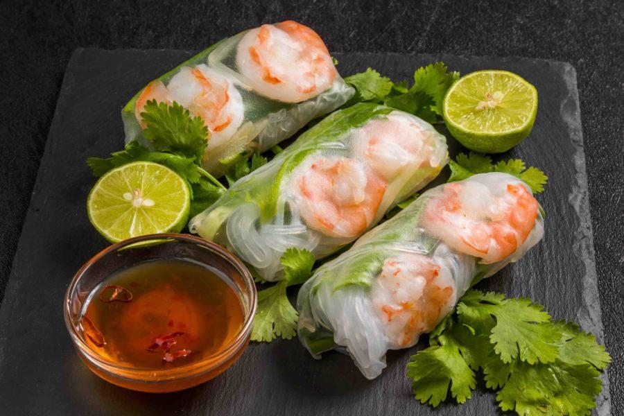 タイ料理:ポピアソット(ปอะเปึ้ยะสด)