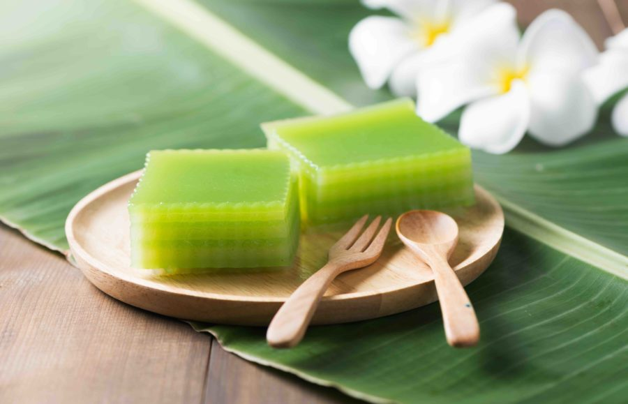 タイのお菓子:カノムチャン(ขนมชั้น)