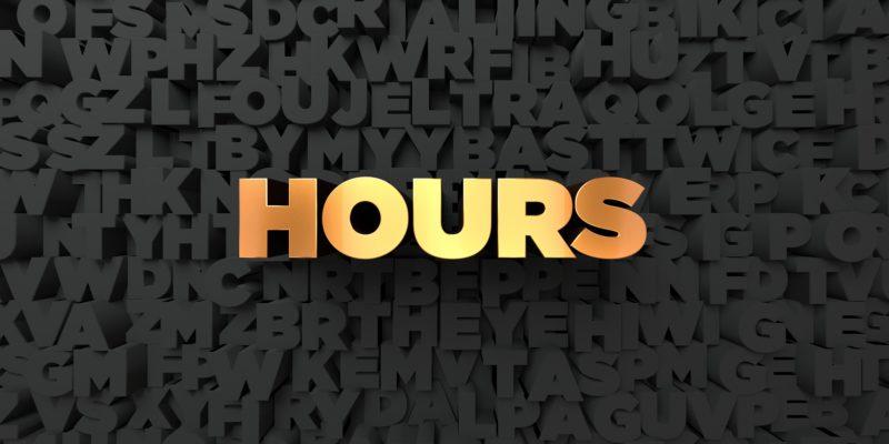 英語 hours