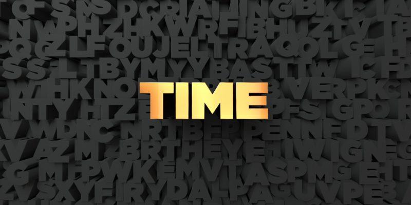 英語 time