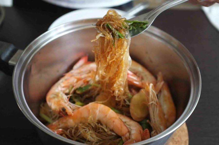 タイ料理:クンオップウンセン(กุ้งอบวุ้นเส้น)