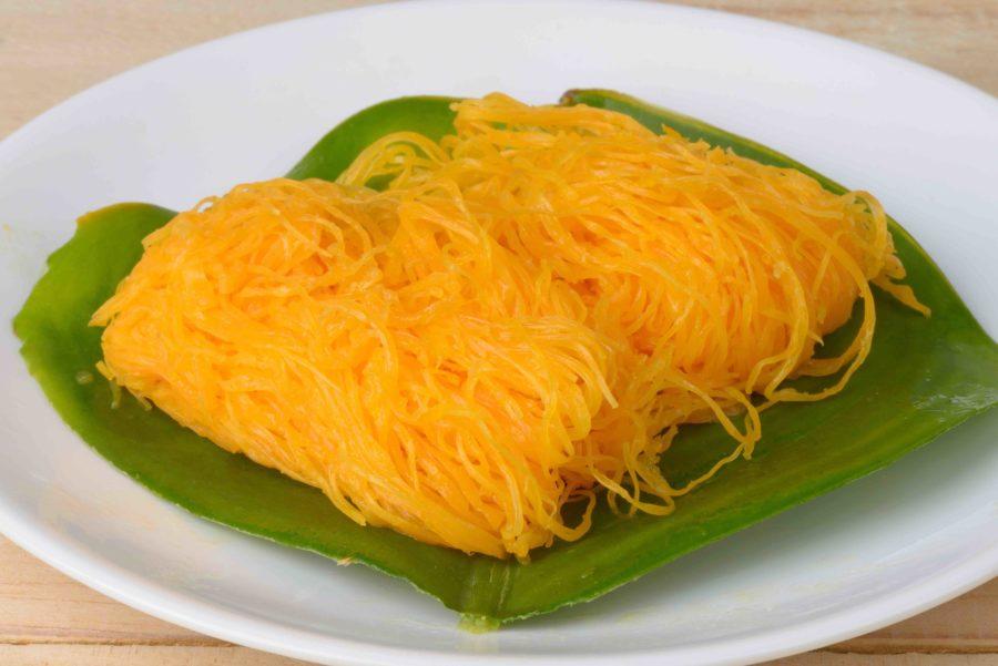 タイのお菓子:フォイトーン(ฝอยทอง)