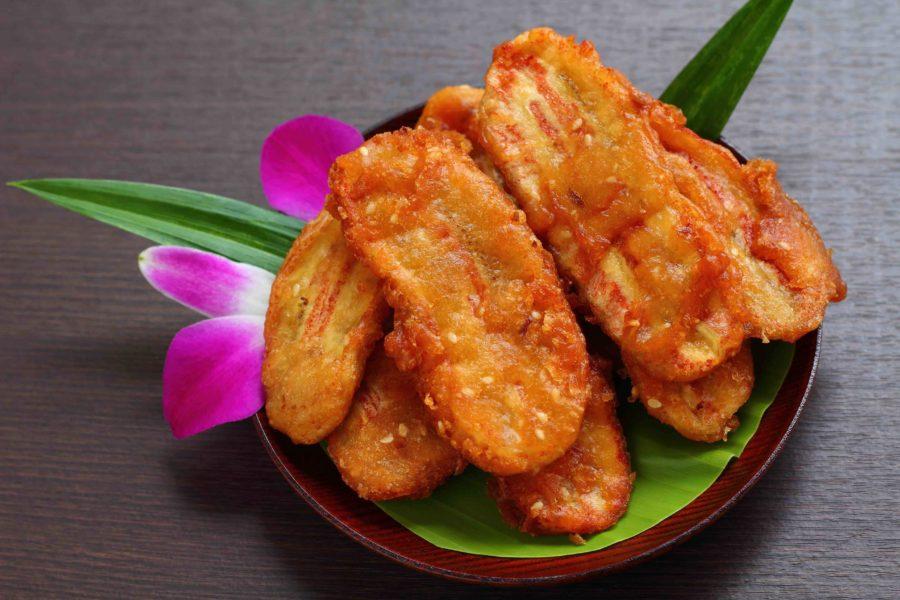 タイのお菓子:クルアイケーク(กล้วยแขก)