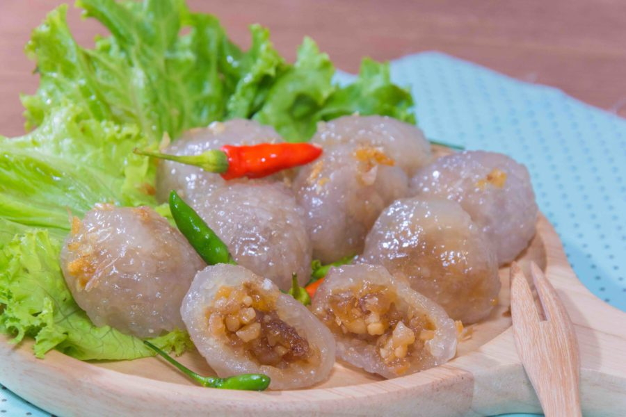 タイ料理:サークーサイムー(สาคูไส้หมู)