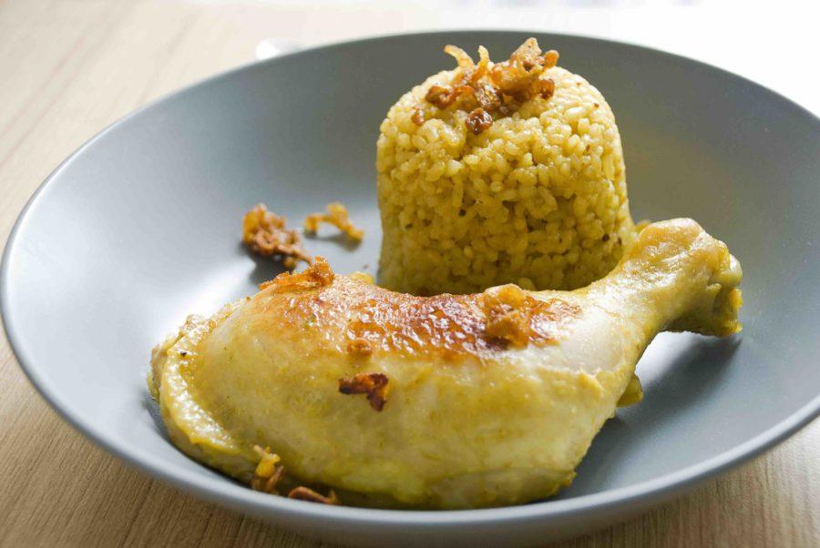 タイ料理:カオモックガイ(ข้าวหมกไก)
