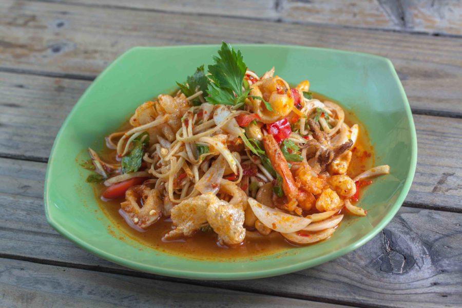 タイ料理:タムマムアン(ตำมะม่วง )