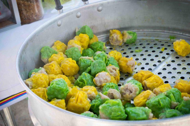 タイ料理:カノムジープ(ขนมจีบ)
