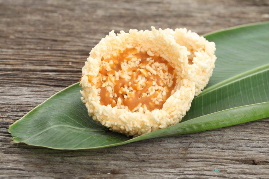 タイのお菓子:カオテーン(ข้าวแตน)