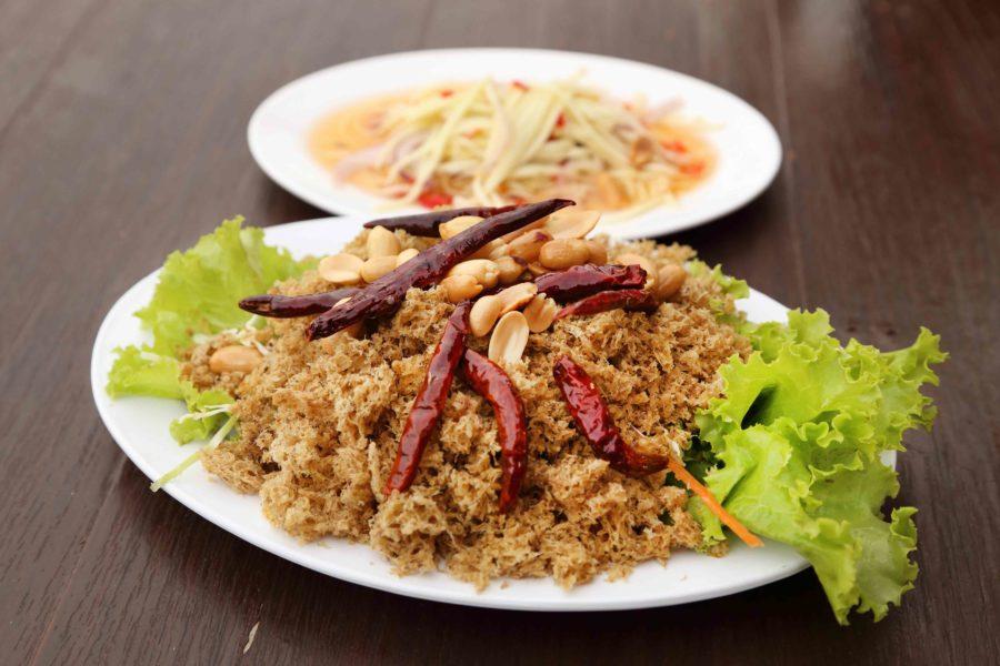 タイ料理:ヤムプラードゥックフー(ยำปลาดุกฟู)