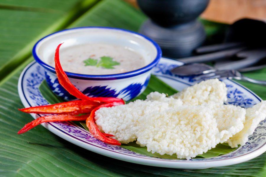タイ料理:カオタンナータン(ข้าวตังหน้าตั้ง)