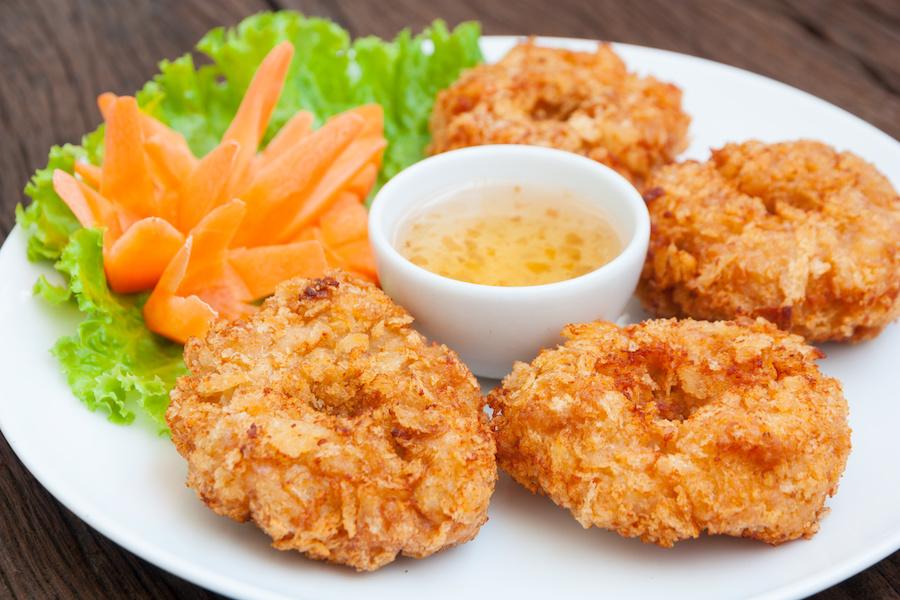 タイ料理:トートマンクン(ทอดมันกุ้ง)