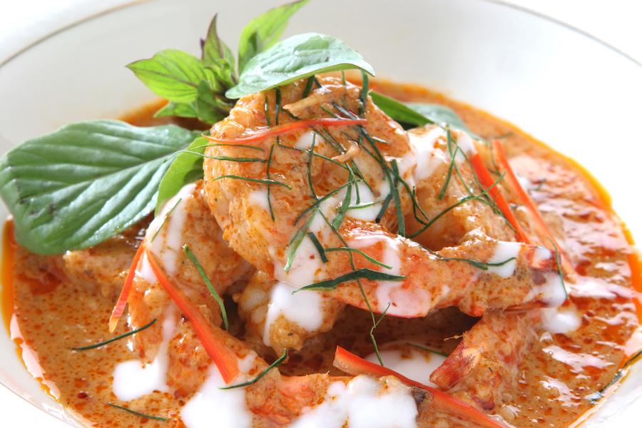 タイ料理:チューチークン(ฉู่ฉี่กุ้ง)