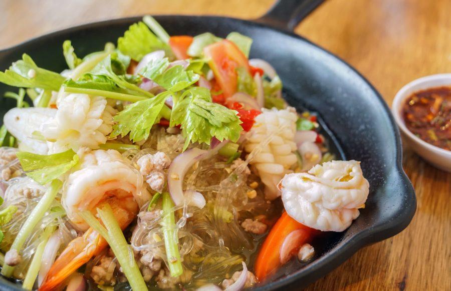 タイ料理:ラープウンセン(ลาบวุ้นเส้น)