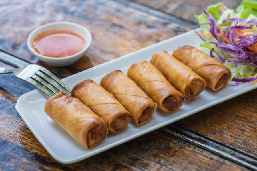 タイ料理:ポピアトート(ปอเปี๊ยะทอด)