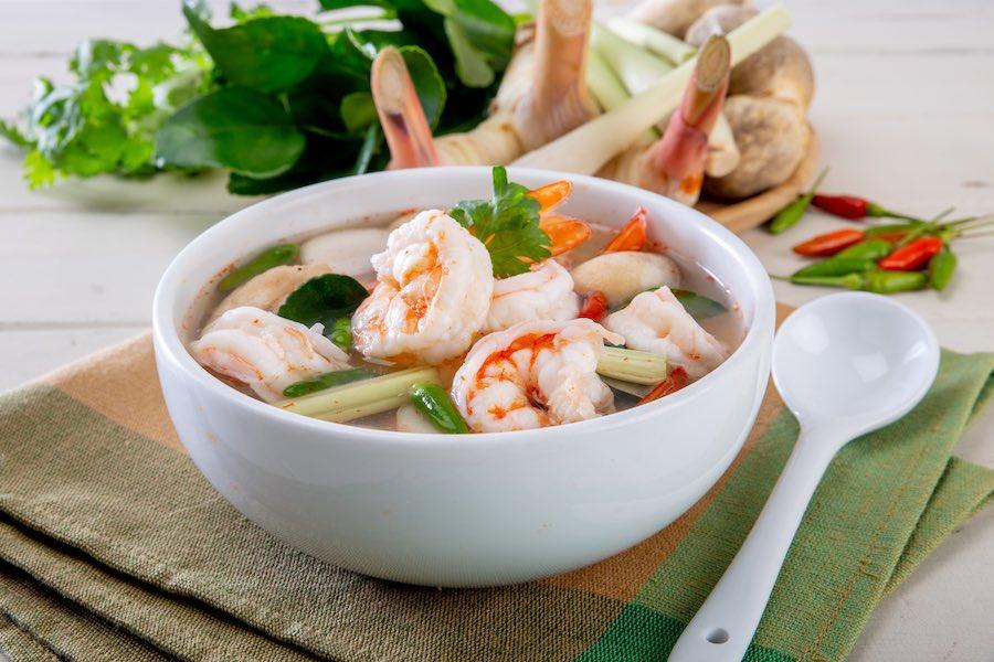 タイ料理:トムヤムポーテック(ต้มยำโป๊ะแตก)