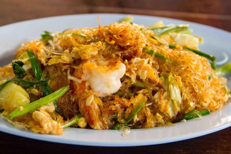 タイ料理:パッウンセン(ผัดวุ้นเส้น)