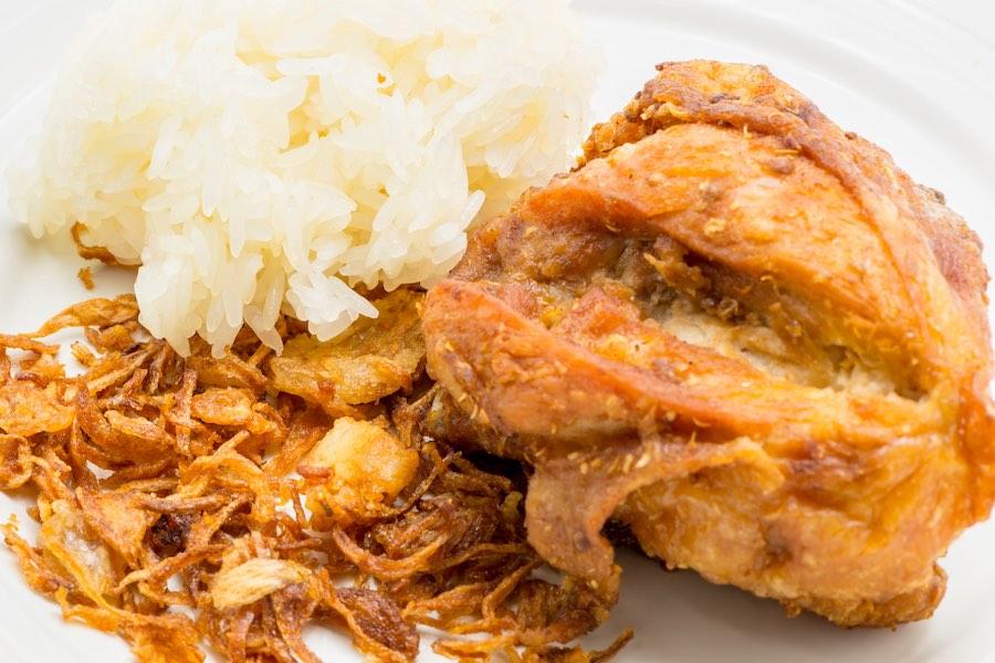 タイ料理:ガイトートハジャイ(ไก่ทอดหาดใหญ่)