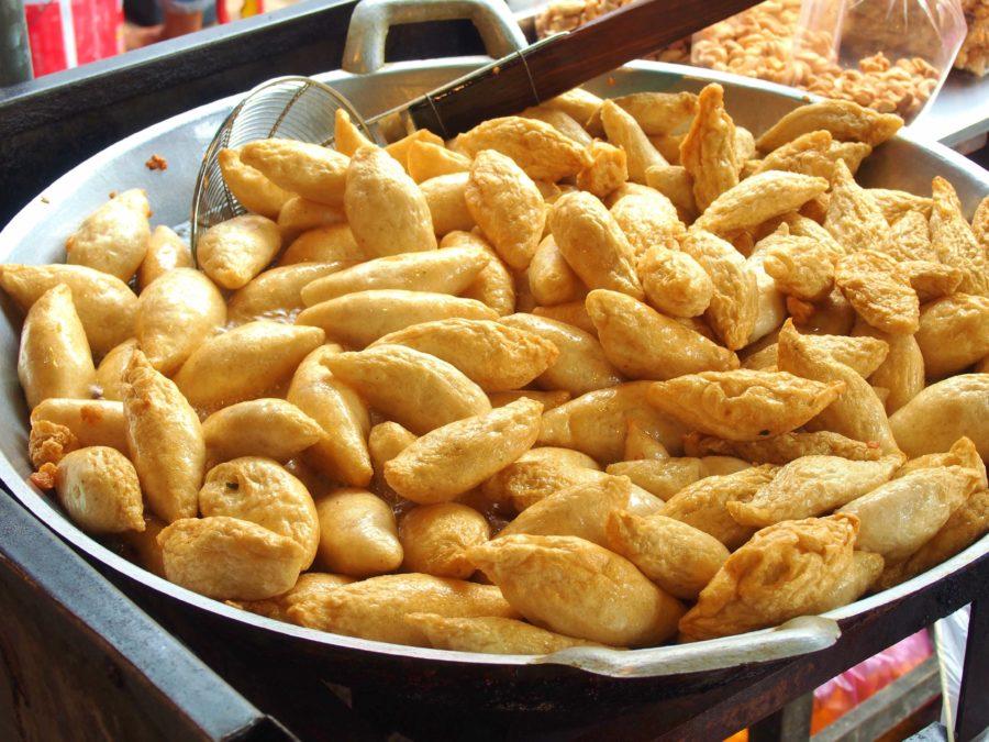 タイ料理:ルークチンプラートード(ลูกชิ้นปลาทอด)