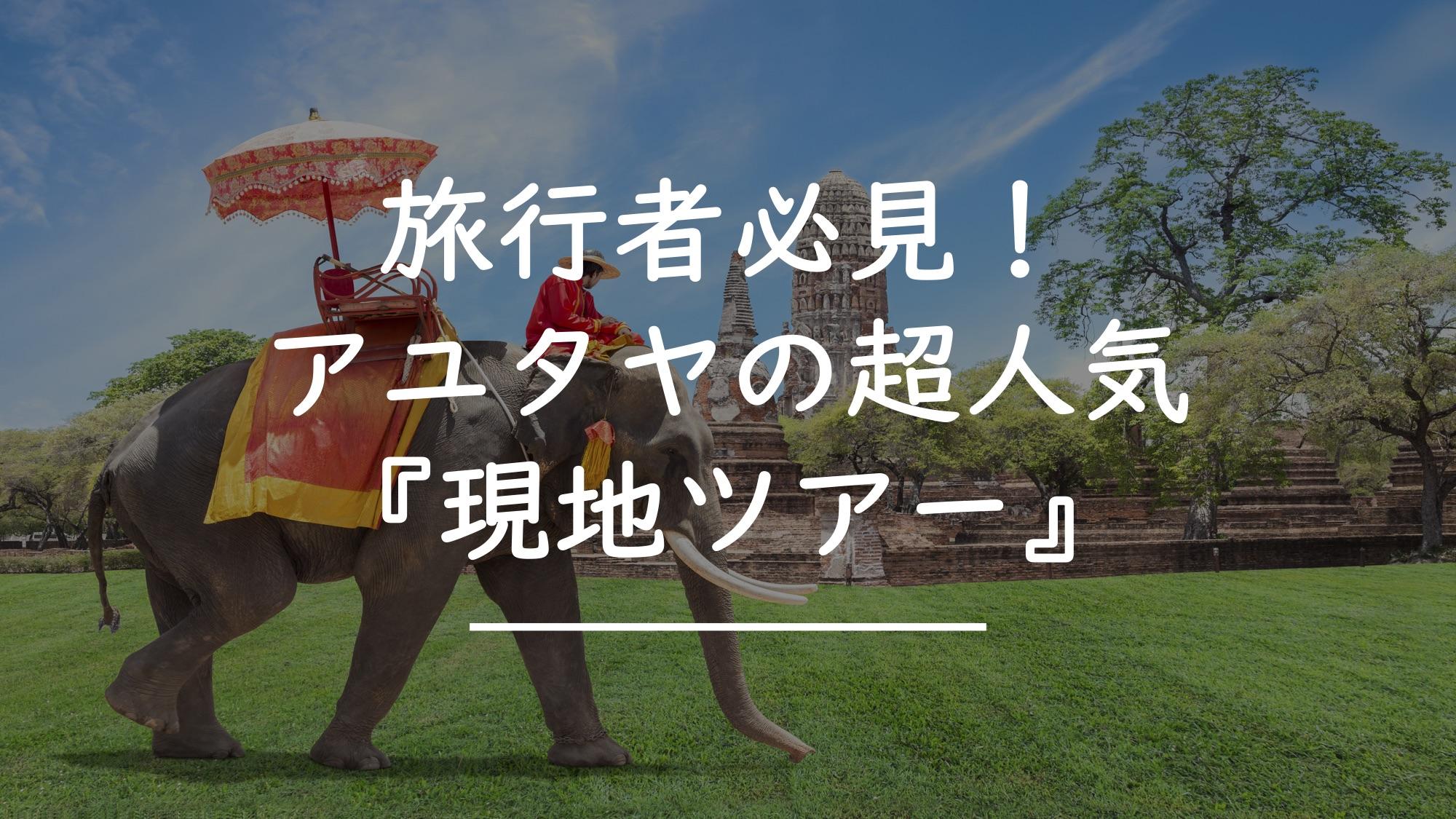 アユタヤのおすすめ現地ツアー【11選】を紹介します