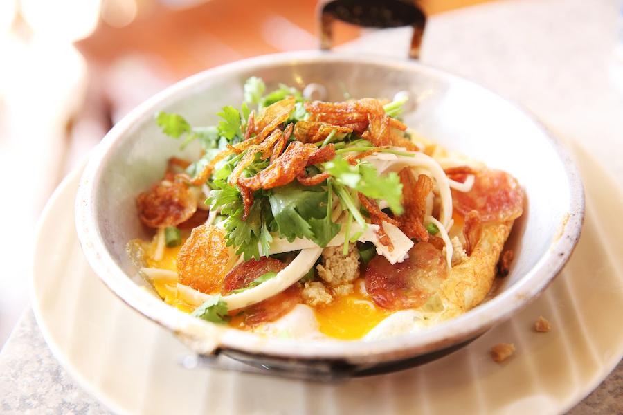 タイ料理:カイガタ(ไข่กระทะ)