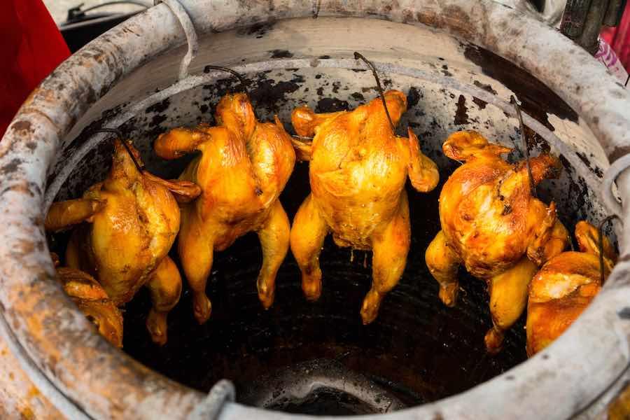 タイ料理:ガイオップオーン(ไก่อบโอ่ง)