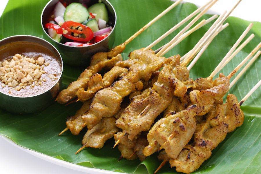タイ料理:ムーサテ(หมูสะเต๊ะ)